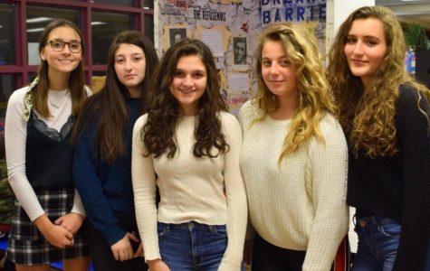 From left to right: Avery Jones, Mia Berkolayko, Julia Narkaj, Olesya Gorbunova, and Zana Gjoni