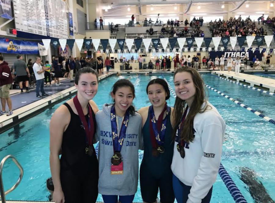 BXV Girls' Swim Team Makes School History